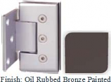 Oil Rubbed Bronze Painted Masis 783R Series Heavy Duty Beveled with Round Edges Wall Mount Offset Short Back Plate Hinge - MA783CR-2_ORB