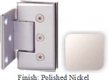 Polished Nickel Masis 783R Series Heavy Duty Beveled with Round Edges Wall Mount Offset Short Back Plate Hinge - MA783CR-2_PN