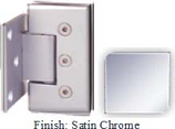 Satin Chrome Masis 783R Series Heavy Duty Beveled with Round Edges Wall Mount Offset Short Back Plate Hinge - MA783CR-2_SCR