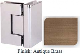 Antique Brass Masis 783 Series Heavy Duty with Square Edges 90 Degree Glass-To-Glass Hinge - MA783D_ABR