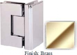 Brass Masis 783 Series Heavy Duty with Square Edges 90 Degree Glass-To-Glass Hinge - MA783D_BR