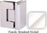 Brushed Nickel Masis 783 Series Heavy Duty with Square Edges 90 Degree Glass-To-Glass Hinge - MA783D_BN