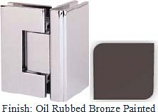 Oil Rubbed Bronze Painted Masis 783 Series Heavy Duty with Square Edges 90 Degree Glass-To-Glass Hinge - MA783D_ORB