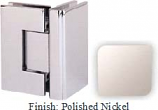 Polished Nickel Masis 783 Series Heavy Duty with Square Edges 90 Degree Glass-To-Glass Hinge - MA783D_PN