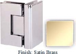 Satin Brass Masis 783 Series Heavy Duty with Square Edges 90 Degree Glass-To-Glass Hinge - MA783D_SBR