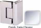 Satin Chrome Masis 783 Series Heavy Duty with Square Edges 90 Degree Glass-To-Glass Hinge - MA783D_SCR