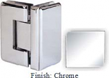 Chrome Masis 783R Series Heavy Duty Beveled with Round Edges 90 Degree Glass-to-Glass Hinge - MA783DR_CR