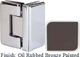 Oil Rubbed Bronze Painted Masis 783R Series Heavy Duty Beveled with Round Edges 90 Degree Glass-to-Glass Hinge - MA783DR_ORB
