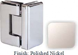 Polished Nickel Masis 783R Series Heavy Duty Beveled with Round Edges 90 Degree Glass-to-Glass Hinge - MA783DR_PN