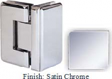 Satin Chrome Masis 783R Series Heavy Duty Beveled with Round Edges 90 Degree Glass-to-Glass Hinge - MA783DR_SCR