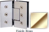 Brass Masis 783 Series Heavy Duty with Square Edges 135 Degree Glass-To-Glass Hinge - MA783E_BR
