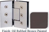 Oil Rubbed Bronze Painted Masis 783 Series Heavy Duty with Square Edges 135 Degree Glass-To-Glass Hinge - MA783E_ORB