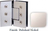 Polished Nickel Masis 783 Series Heavy Duty with Square Edges 135 Degree Glass-To-Glass Hinge - MA783E_PN