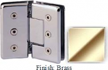 Brass Masis 783R Series Heavy Duty Beveled with Round Edges 135 Degree Glass-to-Glass Hinge - MA783ER_BR