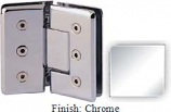 Chrome Masis 783R Series Heavy Duty Beveled with Round Edges 135 Degree Glass-to-Glass Hinge - MA783ER_CR