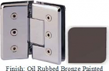 Oil Rubbed Bronze Painted Masis 783R Series Heavy Duty Beveled with Round Edges 135 Degree Glass-to-Glass Hinge - MA783ER_ORB