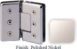 Polished Nickel Masis 783R Series Heavy Duty Beveled with Round Edges 135 Degree Glass-to-Glass Hinge - MA783ER_PN