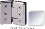Satin Chrome Masis 783R Series Heavy Duty Beveled with Round Edges 135 Degree Glass-to-Glass Hinge - MA783ER_SCR