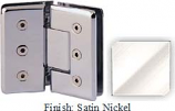 Satin Nickel Masis 783R Series Heavy Duty Beveled with Round Edges 135 Degree Glass-to-Glass Hinge - MA783ER_SN