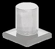 CRL Clear Acrylic Stick-On Mirror Knob CRL MKC1
