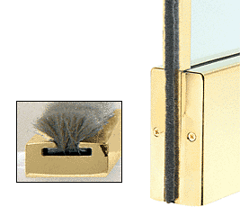 """CRL Polished Brass Weatherstrip Kit With Aluminum Channel for 4"""" Square Rail CRL MSW12PB"""