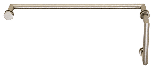 "CRL Brushed Nickel MT Series Combination 6"" Pull Handle 18"" Towel Bar CRL MT6X18BN"
