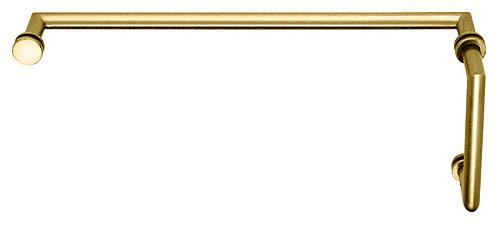 "CRL Polished Brass MT Series Combination 6"" Pull Handle 18"" Towel Bar CRL MT6X18BR"