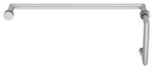 "CRL Satin Chrome MT Series Combination 6"" Pull Handle 18"" Towel Bar CRL MT6X18SC"