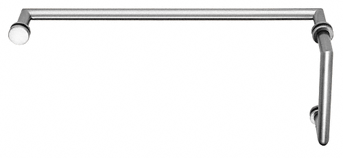 "CRL Polished Chrome MT Series Combination 6"" Pull Handle 24"" Towel Bar CRL MT6X24CH"