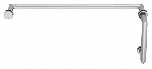 "CRL Satin Chrome MT Series Combination 8"" Pull Handle 18"" Towel Bar CRL MT8X18SC"