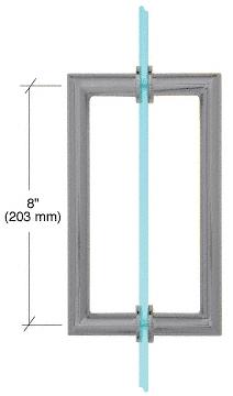 "CRL Brushed Satin Chrome 8"" MT Series Round Tubing Mitered Corner Back-to-Back Pull Handle CRL MT8X8BSC"
