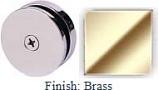 Brass Mush 662A Series Seam Clip 2 inch Round (Traditional Design Round) - MU662A_BR