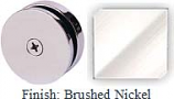 Brushed Nickel Mush 662A Series Seam Clip 2 inch Round (Traditional Design Round) - MU662A_BN