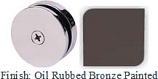 Oil Rubbed Bronze Painted Mush 662A Series Seam Clip 2 inch Round (Traditional Design Round) - MU662A_ORB