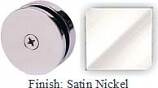 Satin Nickel Mush 662A Series Seam Clip 2 inch Round (Traditional Design Round) - MU662A_SN