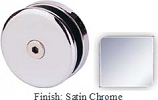 Satin Chrome Mush 662AR Series Seam Clip 2 inch Round (Contemporary Design Round) - MU662AR_SCR