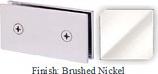 Brushed Nickel Mush 662B Series Joint Clip 2 inch x 4 inch (Traditional Design Square Corners) - MU662B_BN