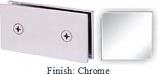 Chrome Mush 662B Series Joint Clip 2 inch x 4 inch (Traditional Design Square Corners) - MU662B_CR
