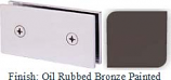Oil Rubbed Bronze Painted Mush 662B Series Joint Clip 2 inch x 4 inch (Traditional Design Square Corners) - MU662B_ORB