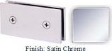 Satin Chrome Mush 662B Series Joint Clip 2 inch x 4 inch (Traditional Design Square Corners) - MU662B_SCR