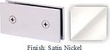Satin Nickel Mush 662B Series Joint Clip 2 inch x 4 inch (Traditional Design Square Corners) - MU662B_SN