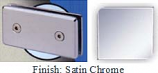 Satin Chrome Mush 662BR Series Joint Clip 2 inch x 4 inch (Contemporary Design Round Corners) - MU662BR_SCR