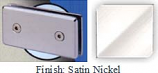 Satin Nickel Mush 662BR Series Joint Clip 2 inch x 4 inch (Contemporary Design Round Corners) - MU662BR_SN