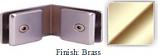 Brass Mush 662CR Series 135 Degree Glass-to-Glass Clip 2 inch x 2 inch  Each Side (Contemporary Design Round) - MU662CR_BR