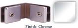 Chrome Mush 662CR Series 135 Degree Glass-to-Glass Clip 2 inch x 2 inch  Each Side (Contemporary Design Round) - MU662CR_CR