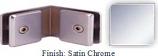 Satin Chrome Mush 662CR Series 135 Degree Glass-to-Glass Clip 2 inch x 2 inch  Each Side (Contemporary Design Round) - MU662CR_SCR