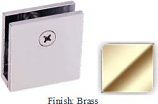 Brass Mush 662DN Series Wall Mount Clip 2 inch x 2 inch (Traditional Design Square Corners) - MU662D_BR