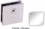 Chrome Mush 662DN Series Wall Mount Clip 2 inch x 2 inch (Traditional Design Square Corners) - MU662D_CR