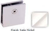 Satin Nickel Mush 662DN Series Wall Mount Clip 2 inch x 2 inch (Traditional Design Square Corners) - MU662D_SN