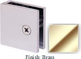 Brass Mush 662DN-7 Series Wall Mount Transom Clip 2 inch x 2 inch (Traditional Design Square Corners) - MU662D-7_BR